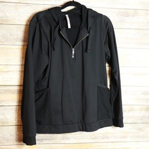 Fabletics 3/4 zip hoodie size xl